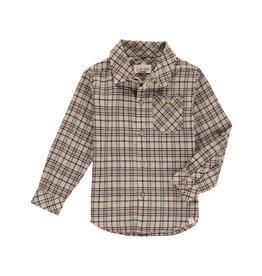 Me + Henry Brown Beige Plaid Shirt, Boys