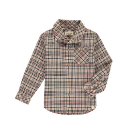Me + Henry Brown Beige Plaid Shirt, Mens