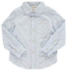 Me + Henry Pale Blue Long Sleeve Woven Shirt 3-4Y
