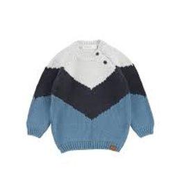 Miles Baby Chevron Knit Sweater Blue