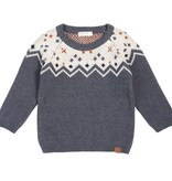 Miles Baby Knit Sweater - Heather Beige