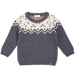 Miles Baby Knit Sweater - Heather Beige