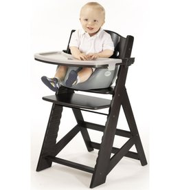 Keekaroo by Bergeron By Design Height Right HIGH Chair Espresso with Grey Infant Insert and Tray and Cover