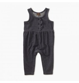 Tea Collection Baby Girl Denim Like Romper - Indigo