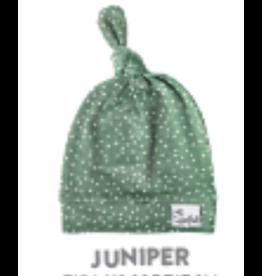 Copper Pearl Top Knot Hat, Juniper