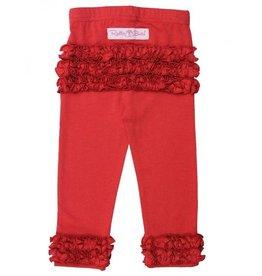 RuffleButts Ruffle Leggings Red