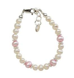 Cherished Moments Addie - (SM) Pink/white Swarovski and pink freshwater pearls