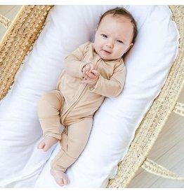 Little Sleepies Convertible Romper/Sleeper Camel