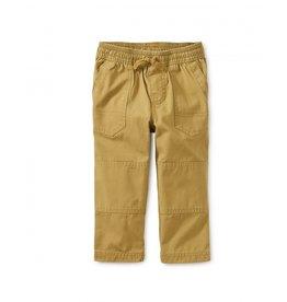 Tea Collection Canvas Explorer Baby Pants - Fennel