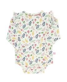 RuffleButts Flutter Bodysuit, A Floral Affair