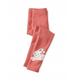 Tea Collection Girl Bunny Rabbit Cozy Leggings Size 2