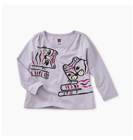 Tea Collection Tiger Time Graphic Tee - Lilac Mist