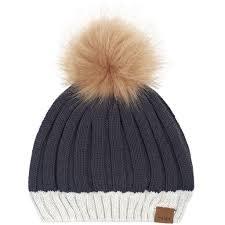 "Miles Baby Dark Grey ""Alpine Club"" Knit Hat"