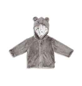 Magnetic Me Drizzle So Soft Minky Fleece Magnetic Jacket - Grey 6-12M