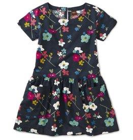Tea Collection Printed Woven Pocket Dress - Indigo Himalayan Blossoms 4