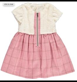 Vignette Faye Fur Top Dress Rose 12M