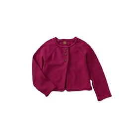 Tea Collection Solid Raglan Sweater Cardigan - Bouquet XS (2T - 3T)