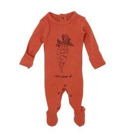 Loved Baby Organic Graphic Footie - Maple Carrot 6-9M