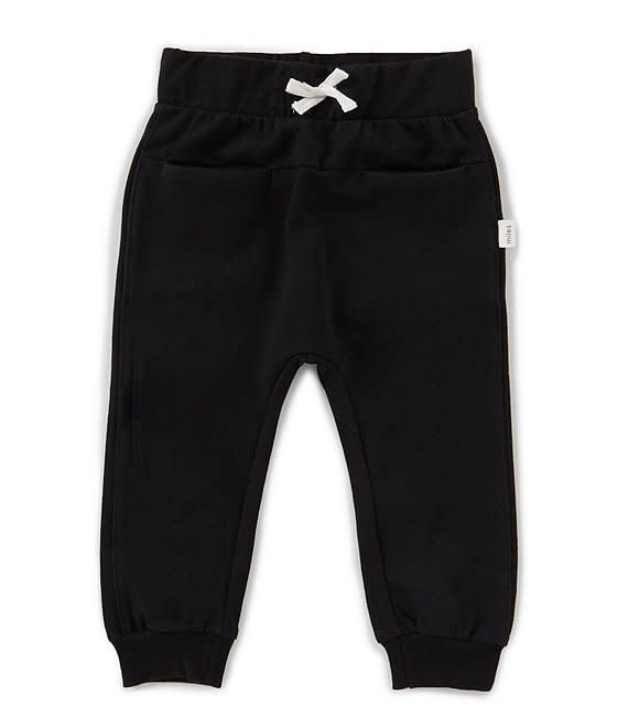 Miles Baby Unisex Jogger Pant Knit - Black 5