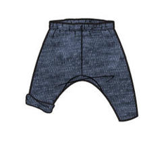 Tea Collection Dropped Gusset Pant - Indigo  4