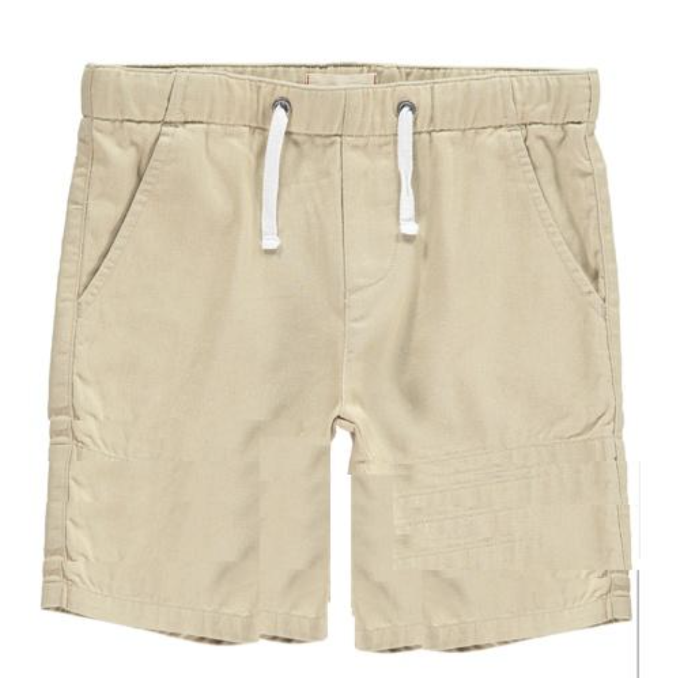 Me + Henry Woven Bermuda Shorts, Stone 2-3Y