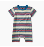 Tea Collection Striped Romper - Grove  9-12M