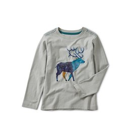 Tea Collection Stag Graphic Tee - Stratus  6