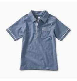 Tea Collection Piped Polo - Cornflower 2