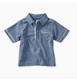 Tea Collection Piped Baby Polo - Cornflower 6-9M