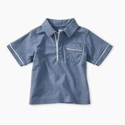 Tea Collection Baby Boy 6-9M Piped Polo - Cornflower