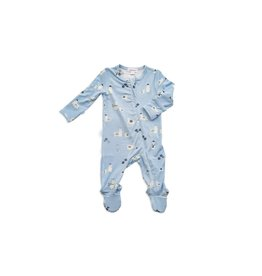 Angel Dear Zipper Footie, Blue Llama 0-3M