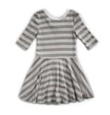Vignette Abbey Twirling Dress Cloud Grey
