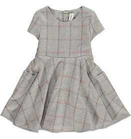 Vignette Debbie Plaid Dress Frost