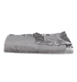"Saranoni Mini Blanket (15"" x 20"") Gray Lush Satin Border"
