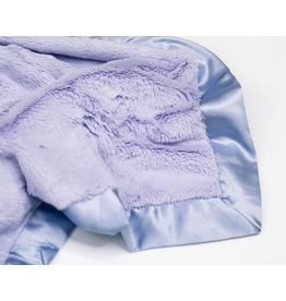 "Saranoni Mini Blanket (15"" x 20"") Lavender Lush Satin Border"