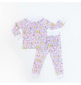 Little Sleepies 2 Piece - Pink Breakfast Buddies - 12-18M