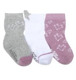 Robeez 3 Pk Socks, Dream Among the Stars Grey/Lavendar 0-6m