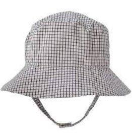 Huggalugs Boxter Black & Cream Plaid UPF 25+ Bucket Hat 12-24m