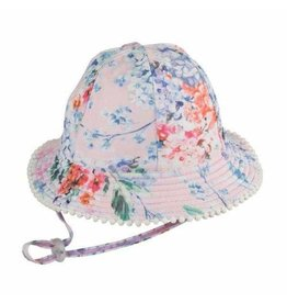Millymook and Dozer Baby Girls Floppy Hat - Coco Floral S (0-12m)