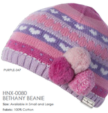 Millymook and Dozer Baby Girl Beanie - Bethany Purple L (12-24m)