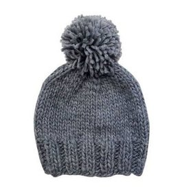 The Blueberry Hill Single Pom Hat - Gray M 2-8y