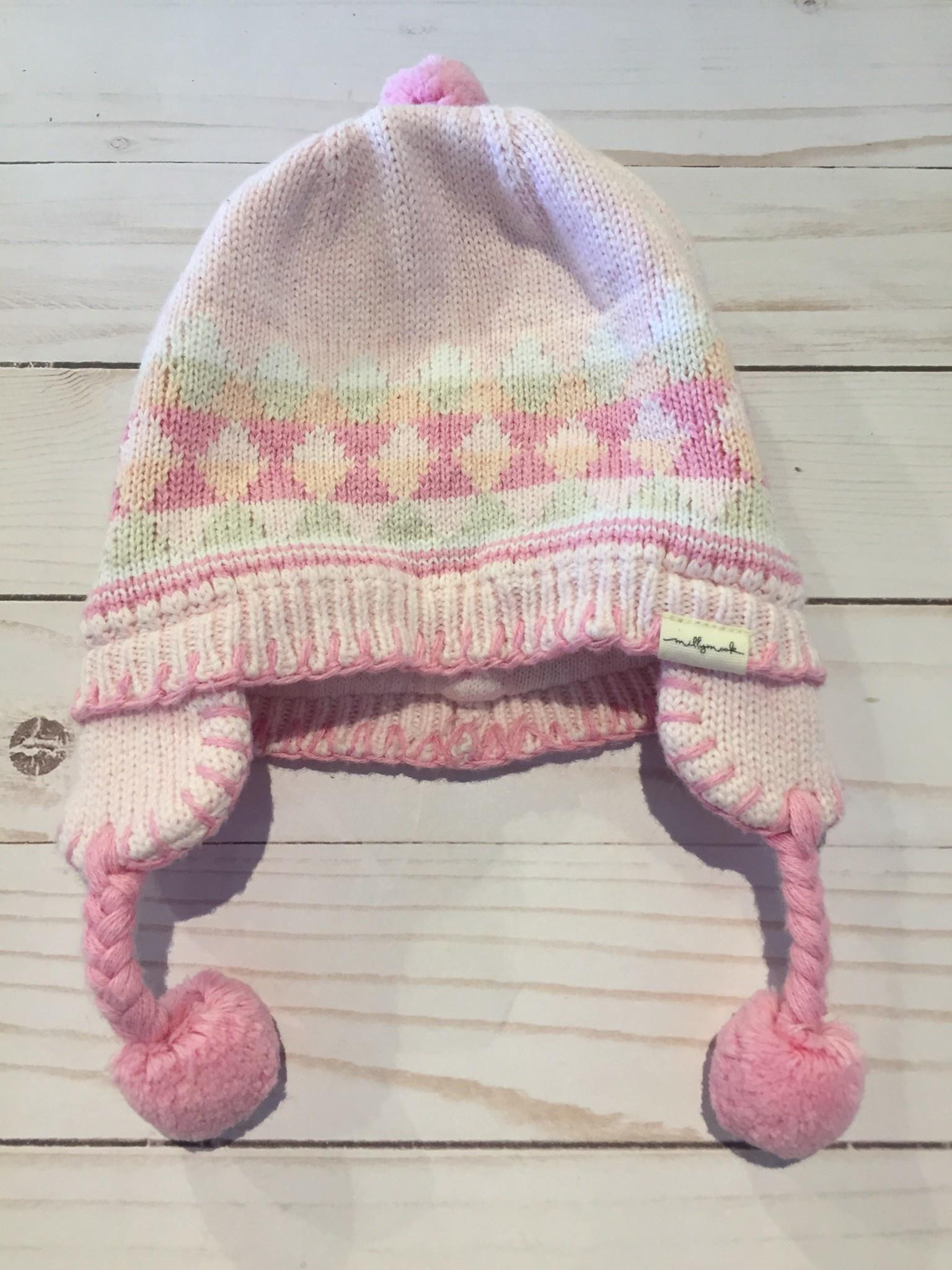 Millymook and Dozer Baby Girls Beanie Peru - Malibu Pink S (0-12m)