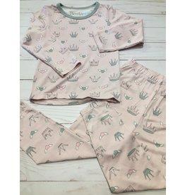 Bestaroo Two Piece Modal Princess Crown Pajama Set (Girls 2T-6Y) 4T