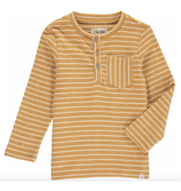 Me + Henry Gold Stripe Henley Tee, Boys 4-5Y