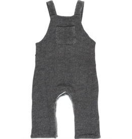 Me + Henry Charcoal Black Sweat Overalls, Baby 18-24M