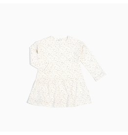 Miles Baby Girls L/S Dress Knit - Off White Noise 3T