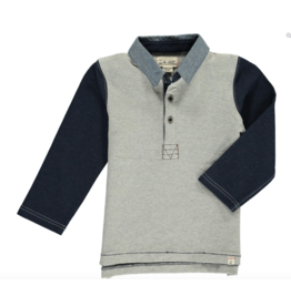 Me + Henry Grey Rugby Shirt 4-5Y