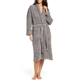 Saranoni Adult Chenille Robe - Gray (Small/Med)