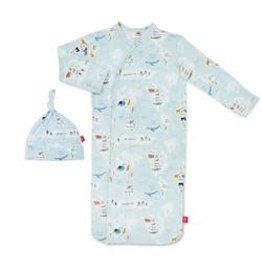 Magnetic Me Sea The World Modal Magnetic Sack Gown Set NB-3M