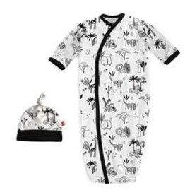 Magnetic Me Animal Safari Modal Magnetic Sack Gown Set NB-3M